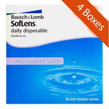Soflens 1 Day Daily 90 Pack 4 Boxes