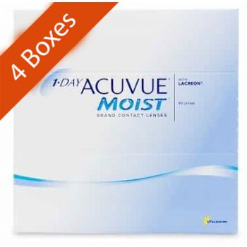 1 day acuvue moist daily 90 Pack 4 Boxes